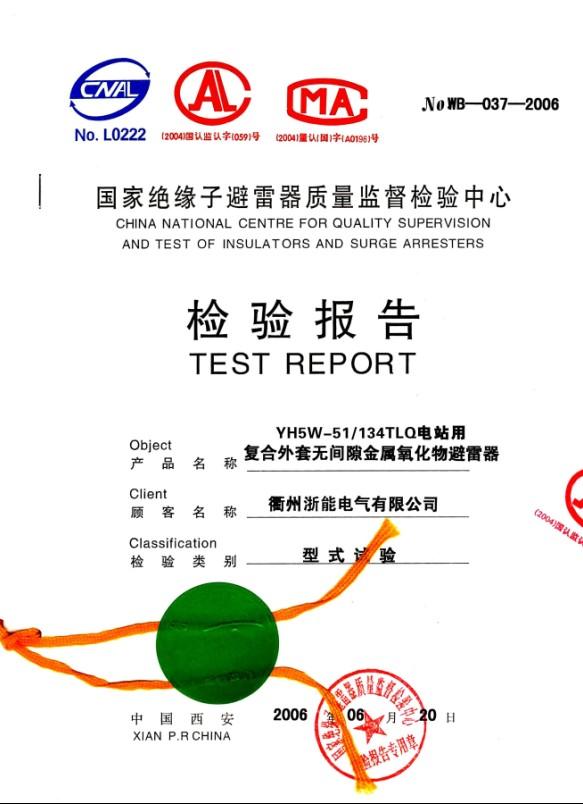 35KV避雷器检验报告